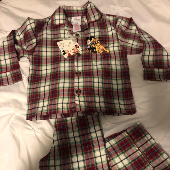 Disney Other - Plaid Disney Pajama set